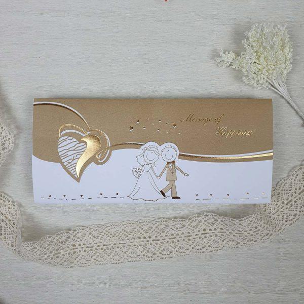 کارت عروسی کد 208 طلایی