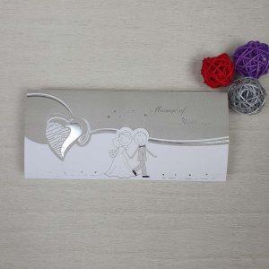 کارت عروسی کد 208 نقره ای