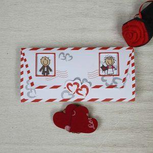 روی کارت عروسی فانتزی کد 170